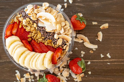 Dirt The Clean Juicery Green Bay WI Banana Split Smoothie Bowl